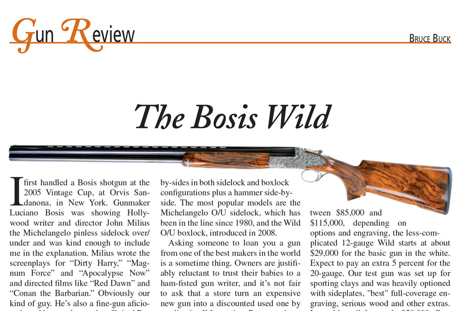The Bosis Wild - gun review, Bruce Buck